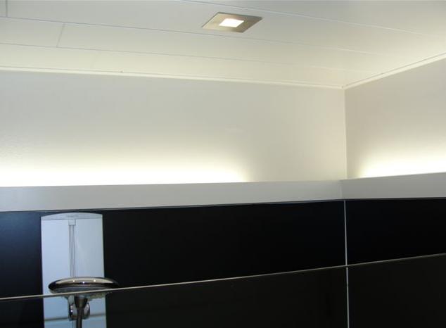 Wevla home interiors bvba badkamer realisaties for Indirecte verlichting toilet